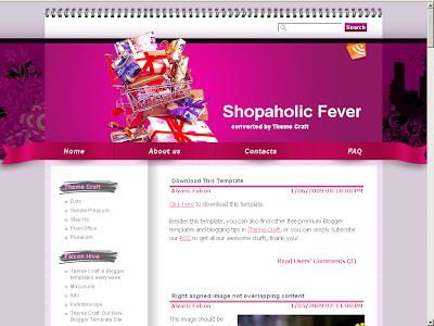 Shopaholic Blogger theme