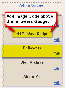 Replace Followers title with an image in Blogger