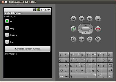 Android 的隨機數字產生器