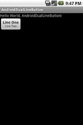 通過Html.fromHtml()方法顯示兩行文字在按鈕之上