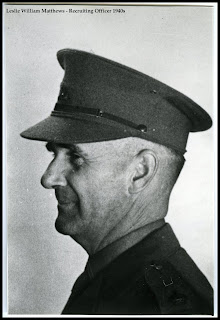 Les Matthews as Recruitment Officer around 1940