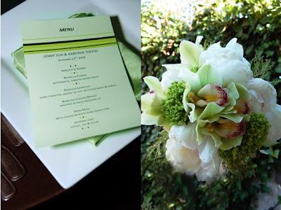 green menu card