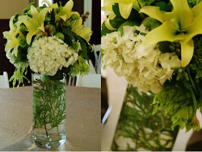 White Hydrangea Wedding Centerpieces on San Francisco Bay Area Wedding Florist  October 2009