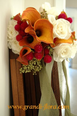 orange fuchia bouquet