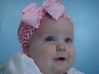 My customer's baby w/ her new headband!