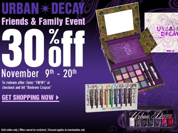 Beauty Bargains: Urban Decay Friends and Family Sale!!