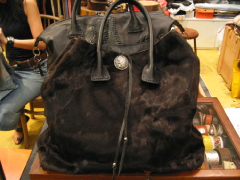 pony fur tote bag