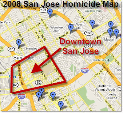 The San Jose Blog November - San jose crime rate map