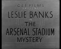 Film title: The Arsenal Stadium Mystery