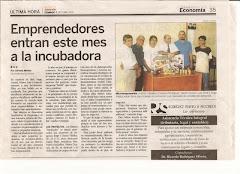 Reportaje Creación 1ª Incubadora c/Pequeñas Fabricas: salonemprendedor@yahoo.com