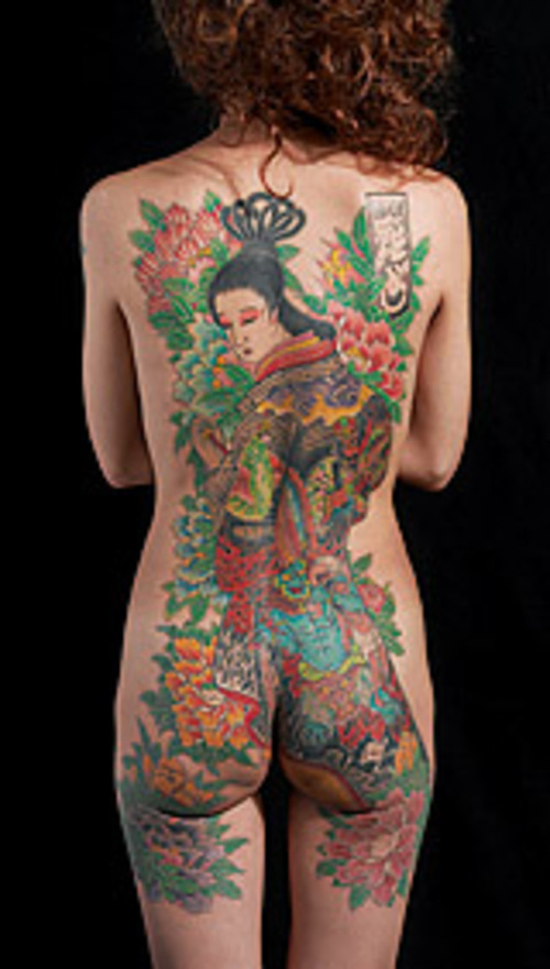 Back Women#39;s Geisha Tattoo