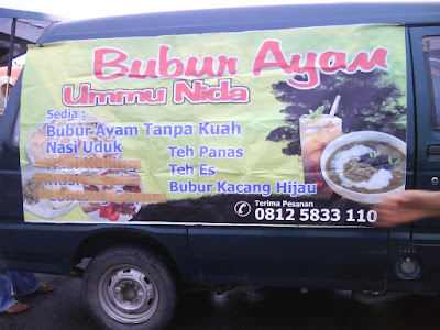 bubur ayam ummi nida, menu sehat