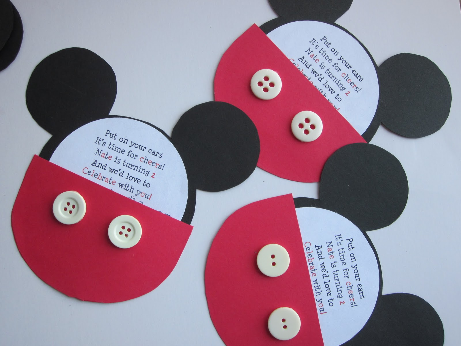 Embellishing Life Mickey birthday invitations – Homemade Birthday Invitation Ideas
