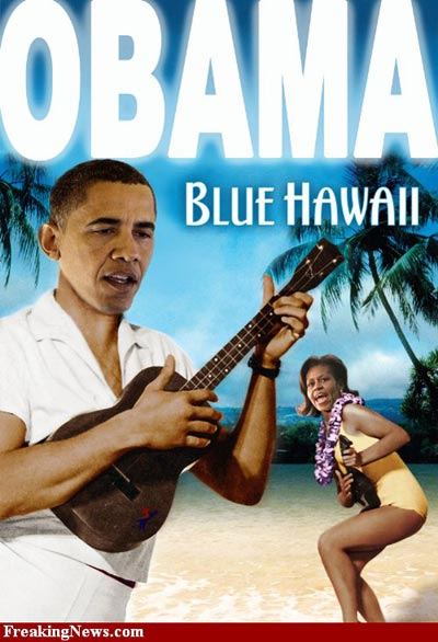 Obama Blue Hawaii
