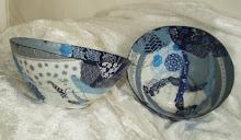 Decoupage-skåle