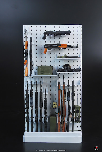 ... one the most versatile small arms storage rack available on the market today. The back panel allows for multiple weapon systems to be stored on the same ... & toyhaven: Soldier Story Expandable 1:6 Weapons Racks! PREVIEW