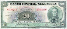 Billete de 20 Bs