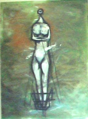 Tethering Hatshepsut  Oils, Oil Pastels on Canvas