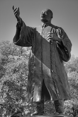 Martin Luther King, Jr. statue on The University of Texas at Austin campus. ©2007 Chris W. Johnson.