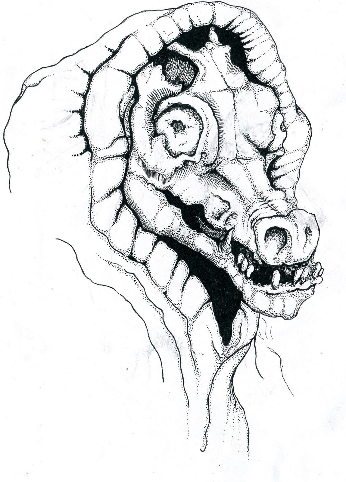 Pig Face Drawing Pig face Evil Pig Drawing Zebra T3