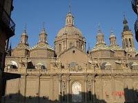 Fachada del Pilar al atardecer