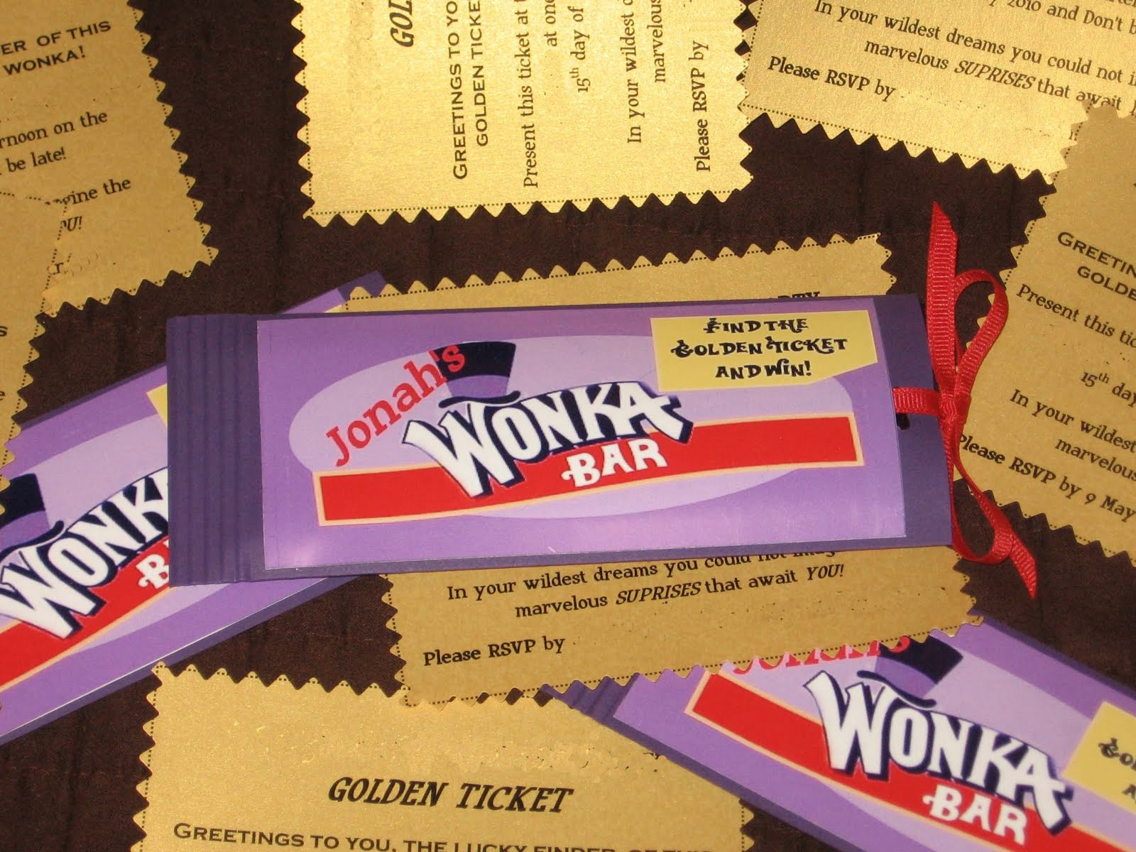 Wonka Chocolate Factory Party: Part 1 -- The Invitations | Love is ...