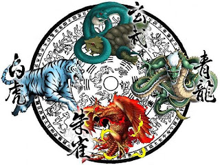 the four guardians dragons pagan