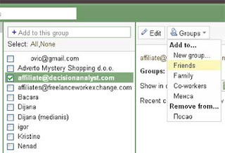 Gmail group contact