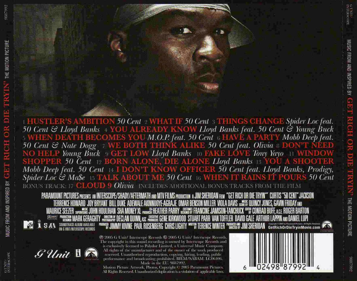 50 Cent - Get Rich or die tryin  BSO Get Rich Or Die Tryin Soundtrack