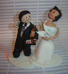 Noivos em biscuit
