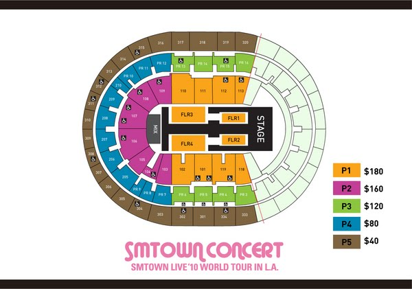 info the smtown live 10 world tour in los angeles seating chart faqs daily k pop news. Black Bedroom Furniture Sets. Home Design Ideas