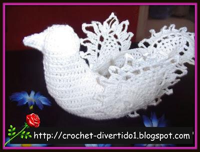 crochet-divertido1: Paloma o Cisne