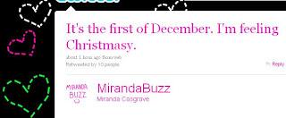 Miranda Cosgrove Twitter Navidad