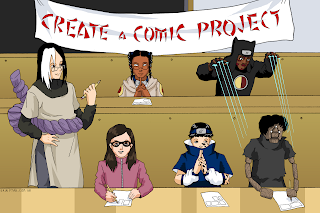 Some of Erin Ptah's art for the Create A Comic Project