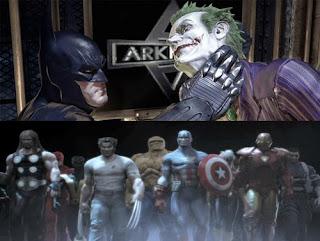 top: Batman - Arkham Asylum, bottom: Marvel Ultimate Alliance 2