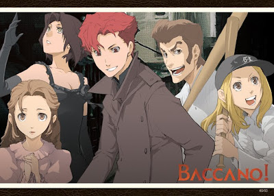 A wallpaper featuring a small part of Baccano's cast