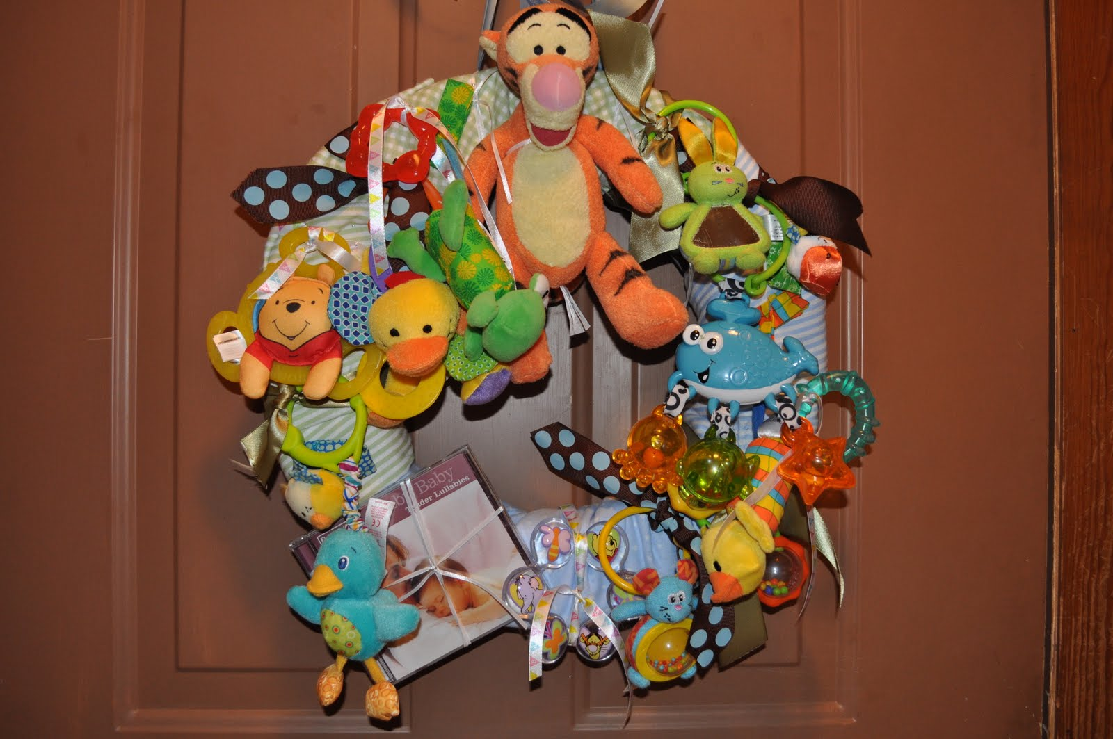 journey to together baby shower wreath