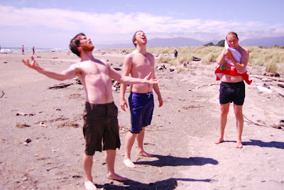 Dan Me and Paul - Haast beach