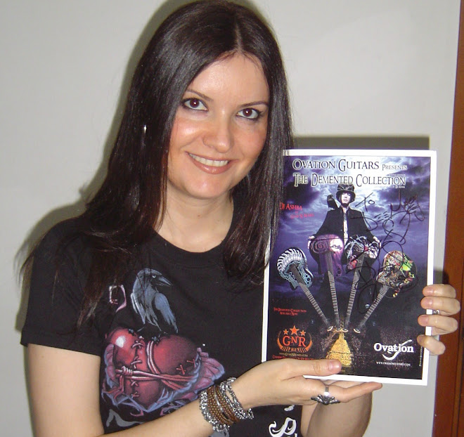 This is the autograph that Dj Ashba signed to me!!