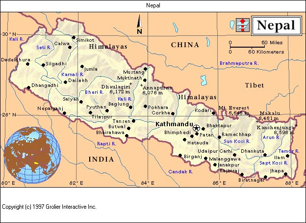 map of czech republic and surrounding countries. map of nepal and surrounding