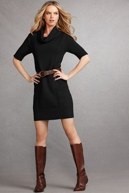 Cocktail Dress with Boots