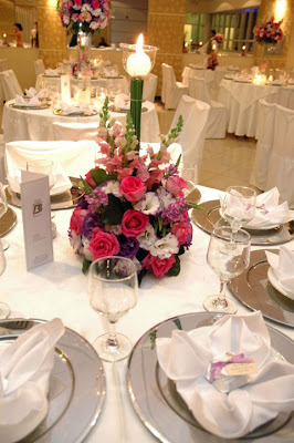 arranjo de mesa para casamento