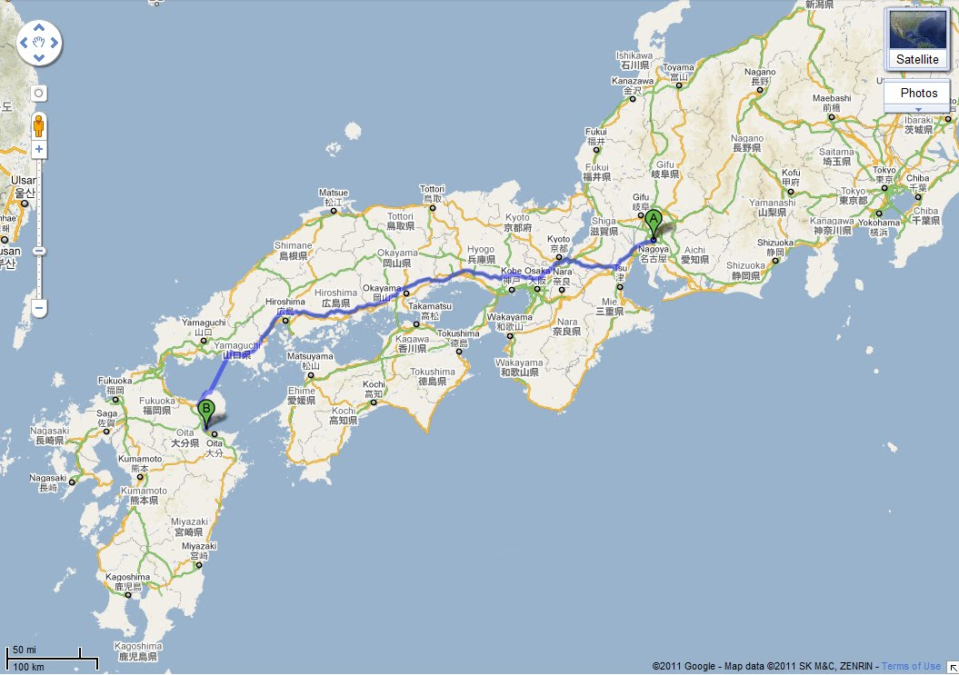 Beppu Japan Map - Japan map beppu