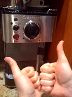 Cappuccino/espresso maker - thumbs up!