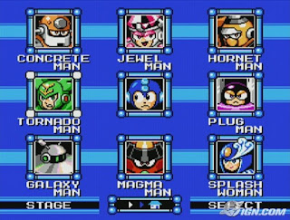 Mega Man 9 stage selection screenshot