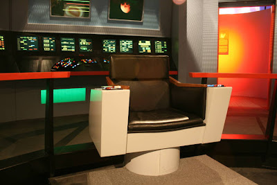 Replica of Captain Kirk's chair at Star Trek: The Exhibition
