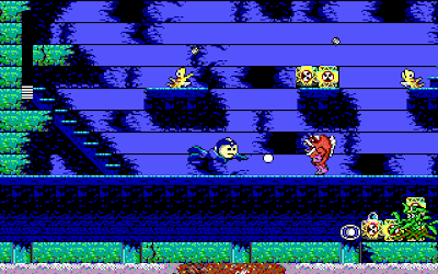 Screenshot from Shark Man's stage in Mega Man III (PC)
