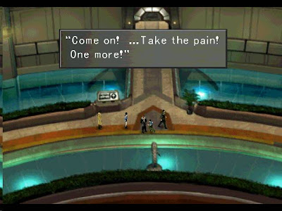 Final Fantasy 8 screenshot: Talking with a student at Balamb Garden