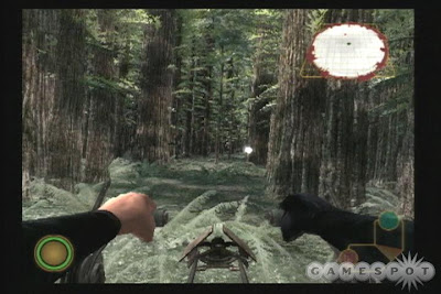 Rogue Squadron III screenshot: Speeder bike chase on Endor