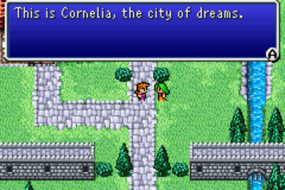 Final Fantasy I remake Cornelia town screenshot